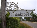 Minicamping-t-Tabakspad uithangbord